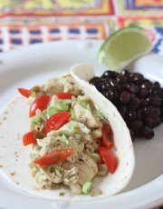 Just in time for Cinco de Mayo, Ridgely Brode makes Salsa Verde Chicken in her Slow Cooker and shares the recipe on her blog Ridgely