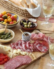Ridgely Brode prepares a quick, easy and delicious Charcuterie Board with everything she found at the local grocery store on her blog, Ridgely