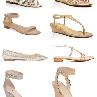 A Neutral Flat or Wedge to Wear with a Fancy Dress