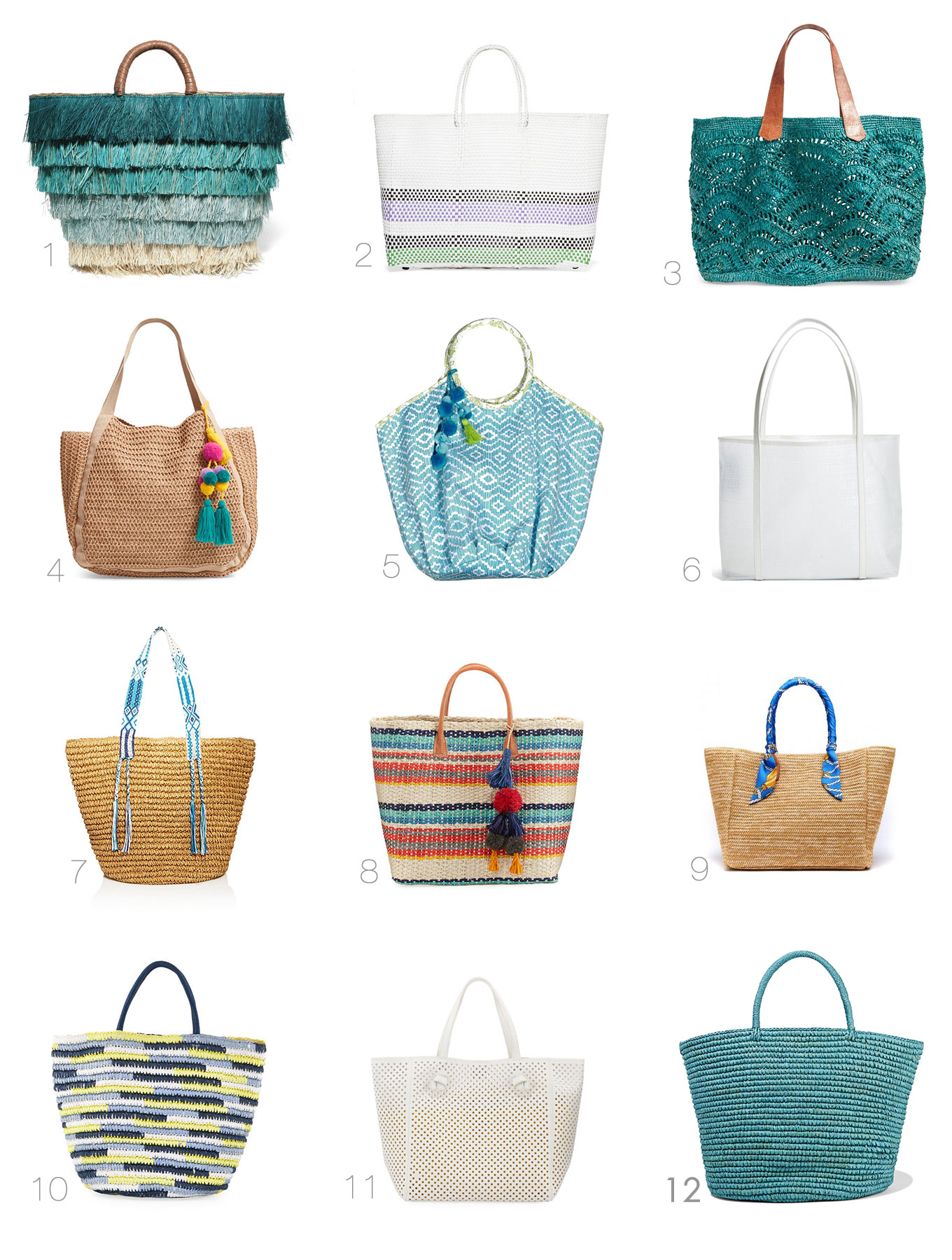 Ridgely Brode is always on the look out for a new bag and found 12 summer totes that are in her favorite blue color on her blog, Ridgely's Radar.