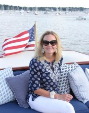 For July 4th Ridgely Brode enjoyed and evening on Enticer, a classic yacht, in the Newport Harbor and shares a few pictures on her blog Ridgely