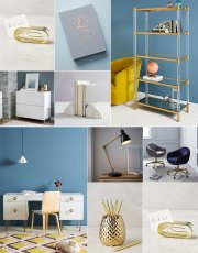 Ridgely Brode dreams of creating a new work space with new finds for her desk and shares her ideas on her blog Ridgely