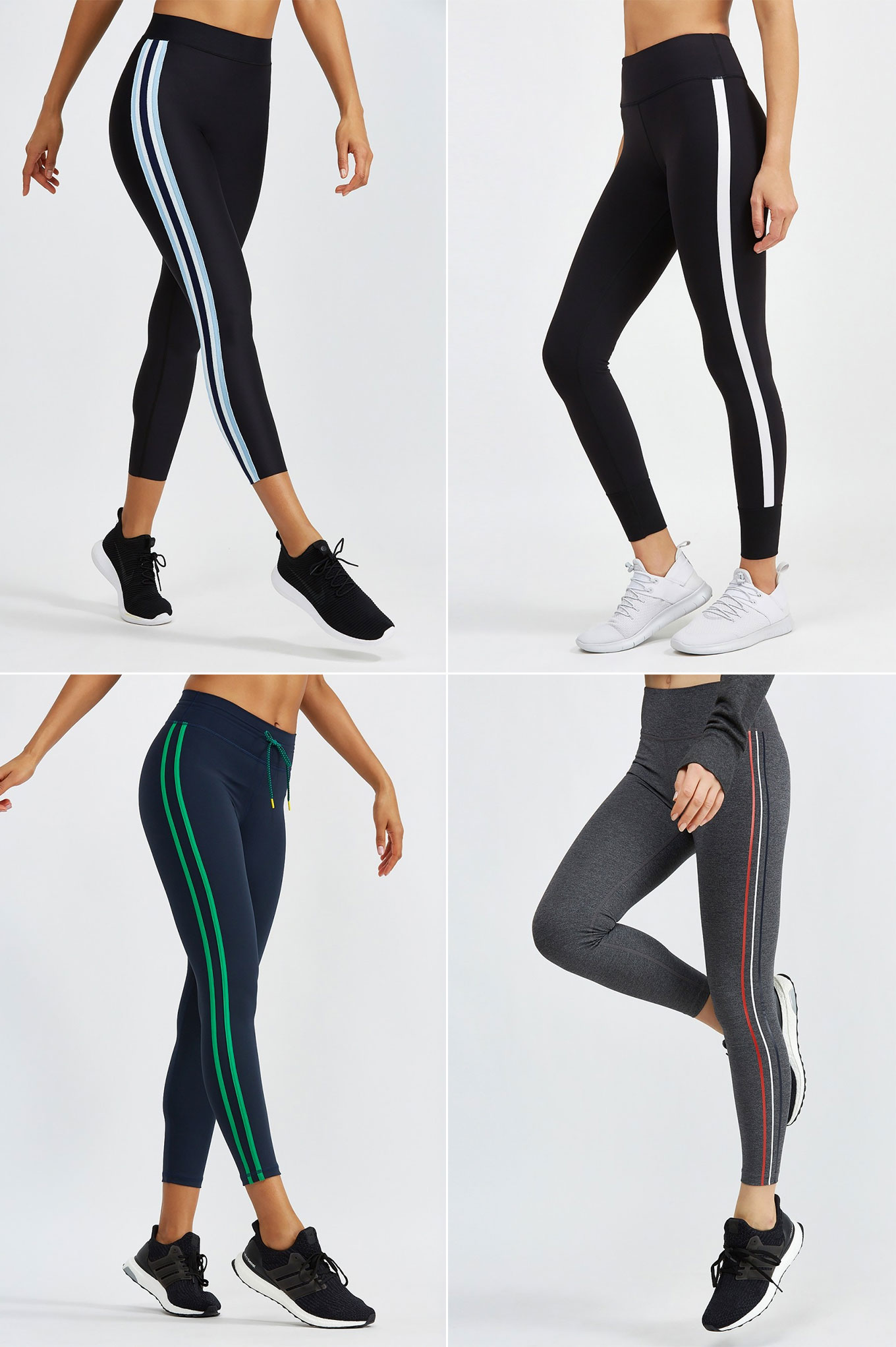 Ridgely Brode pulls together several workout and/or athleisure leggings from the current Side Stripe Pant Trend on her blog Ridgely's Radar.