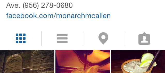 The Monarch Instagram profile @monarchmcallen