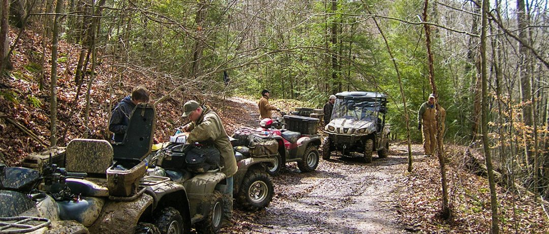 ATV riders on the trails