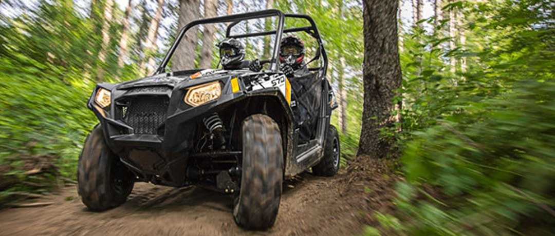 ATV driver on the trails