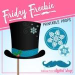 Friday Freebie: Snowman Printable Props