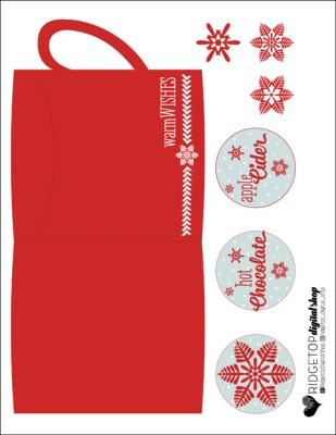 Ridgetop Digital Shop | Friday Freebie | Hot Drink Pouch Printable