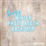 Easy Winter Photo Booth Backdrop