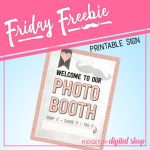 Friday Freebie: Rose Gold Anniversary Photo Booth Sign