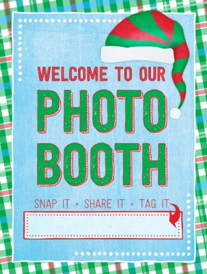 Ridgetop Digital Shop | Friday Freebie | Ugly Sweater Photo Booth Sign | Christmas