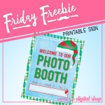 Friday Freebie: Ugly Sweater Photo Booth Sign