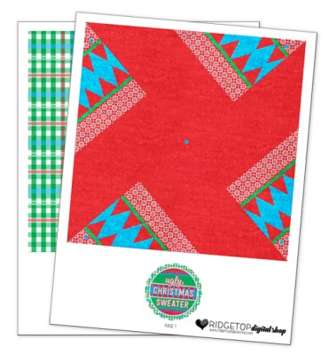 Ridgetop Digital Shop   Friday Freebie   Ugly Sweater Free Printable Pinwheel