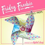 Tropical Pinwheel Free Printable
