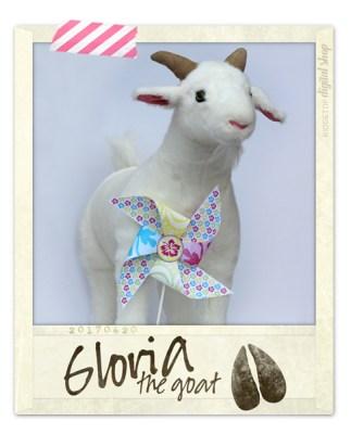 Ridgetop Digital Shop | Friday Freebie | Tropical Hawaiian Luau Free Printable Pinwheel | Gloria the Goat