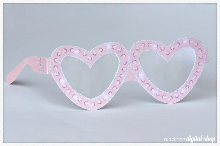 Ridgetop Digital Shop | Friday Freebie | Printable Glasses | Love | Wedding | Anniversary | Rose Gold