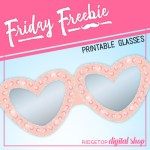 Celebrate Love Free Printable Glasses