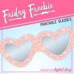 Celebrate Love Free Printable Glasses