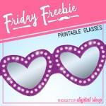Valentine Glasses Free Printable