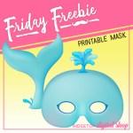 Whale Mask Free Printable