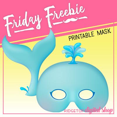 Nautical Party Whale Mask Free Printable | Ridgetop Digital Shop