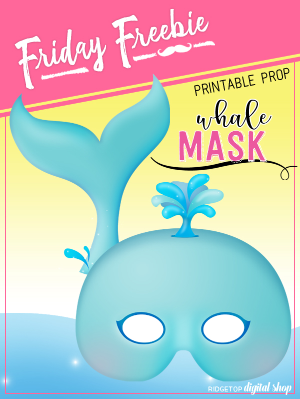 Ridgetop Digital Shop | Friday Freebie | Whale Mask Free Printable