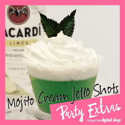 Mojito Cream Jello Shots
