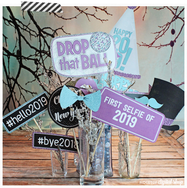Ridgetop Digital Shop | Snapshot | Photo Prop Set | New Year's Eve 2019 | Printable