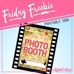 Friday Freebie: Movie Night Photo Booth Sign