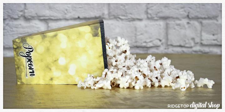 Ridgetop Digital Shop | Snapshot | Printable | Popcorn Box | Movie Night | Oscar Party