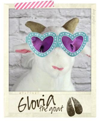 Ridgetop Digital Shop | Turquoise Heart Glasses Free Printable | Gloria the Goat