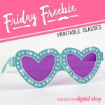 Turquoise Heart Glasses Free Printable