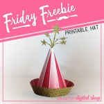 Friday Freebie: Red and Gold Party Hat