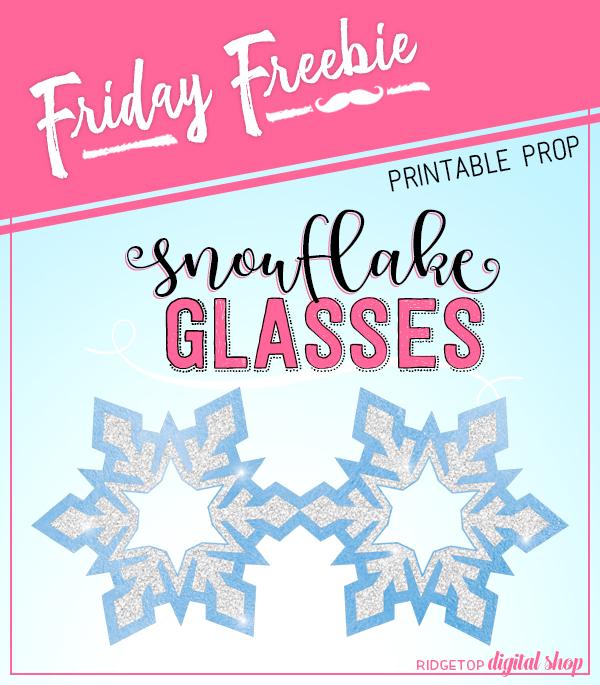 Ridgetop Digital Shop | Friday Freebie | Printable | Glasses | Snowflake