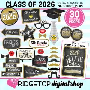 Ridgetop Digital Shop | 5th Grade Graduation Photo Booth Props