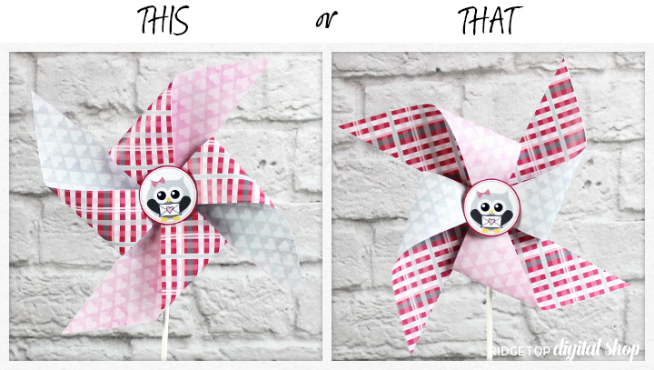 Ridgetop Digital Shop | Friday Freebie: Valentine Pinwheel | Free Printable