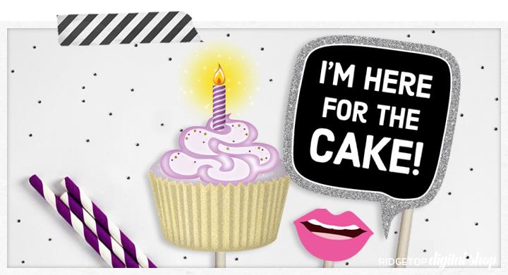 Ridgetop Digital Shop | Birthday Photo Booth Props | 7th Birthday Printables