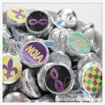 Mardi Gras Candy Stickers Free Printable