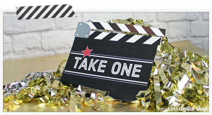 Ridgetop Digital Shop | Movie Night Birthday Photo Booth Props
