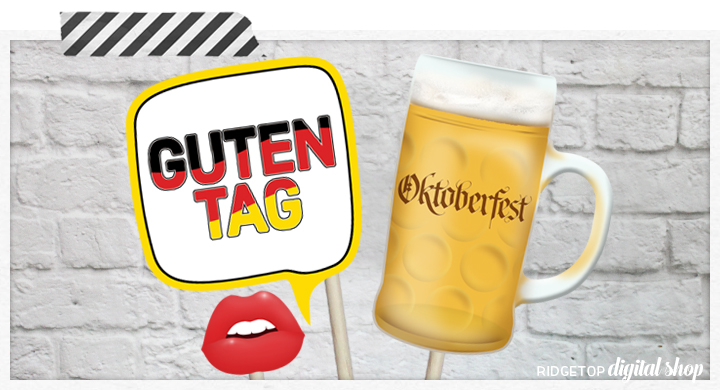 Ridgetop Digital Shop | Oktoberfest Photo Props | German Photo Booth