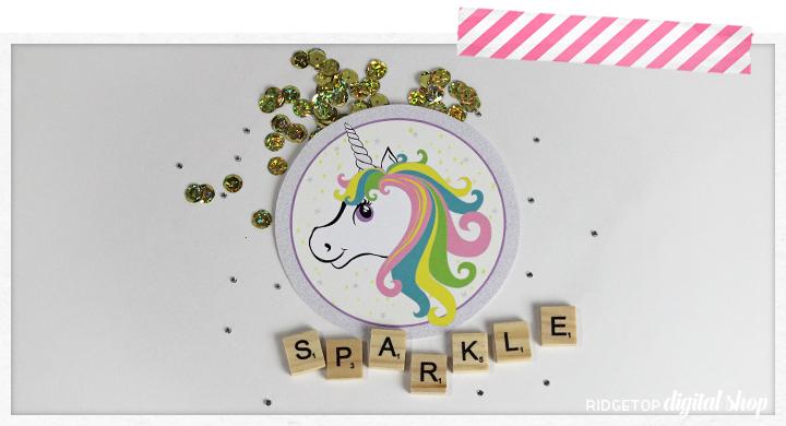 Ridgetop Digital Shop | Unicorn Party Printables | Unicorn Party Decor | Unicorn Free Printables