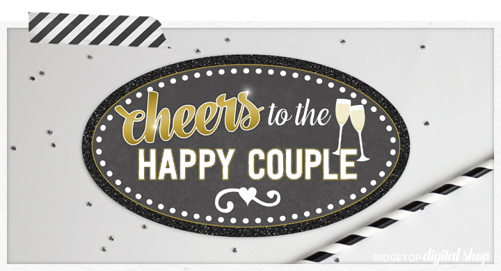Ridgetop Digital Shop | Bridal Shower Photo Props | Wedding Photo Props | Anniversary Photo Props