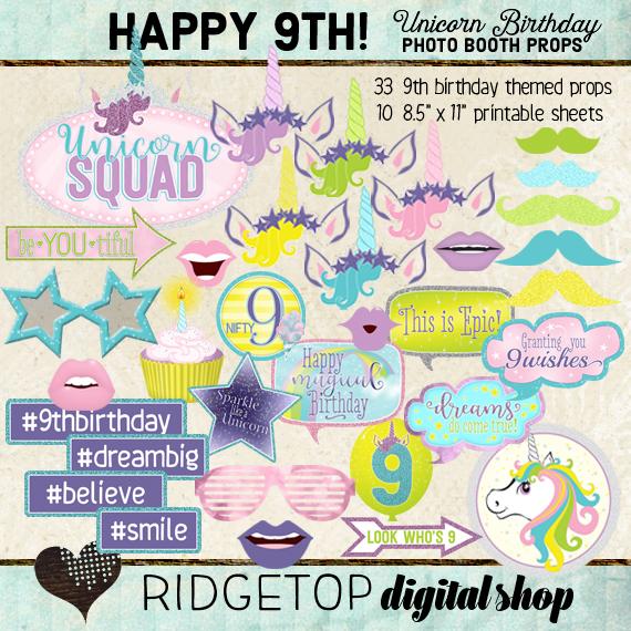 Unicorn 9th Birthday
