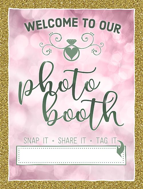 Ridgetop Digital Shop | Friday Freebie | Dusty Pink and Sage Wedding Photo Booth Sign | Wedding Free Printable