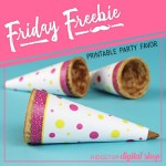 Friday Freebie: Pink and Yellow Cone Wrapper