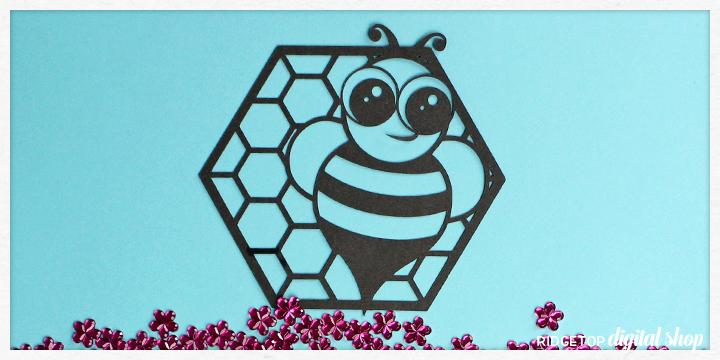 Ridgetop Digital Shop   Bee Cupcake Topper SVG