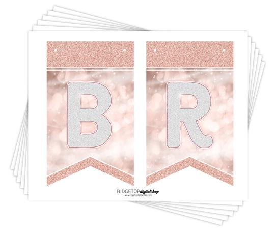 Ridgetop Digital Shop   Friday Freebie   Bride to Be Banner   Rose Gold   Printable Banner   Bachelorette Party   Bridal Shower   Hen Party
