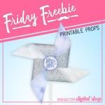 Friday Freebie: Victorian Lilac Wedding Pinwheel