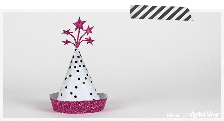 Ridgetop Digital Shop | How to Assemble Party Hats | Free Party Printable