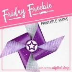 Friday Freebie: Purple Pinwheel